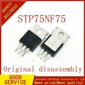 10PCS original used STP75NF75 STP75N75 P75NF75 75NF75 75N75 - MOSFET N-CH 75V 80A 300W TO-220-3(TO-220AB)
