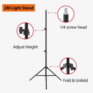 79in 2M Light Stand Tripod With 1/4 Screw Head For Photo Studio Softbox Video Flash Umbrellas Reflector Ring lamp Light AliExpress