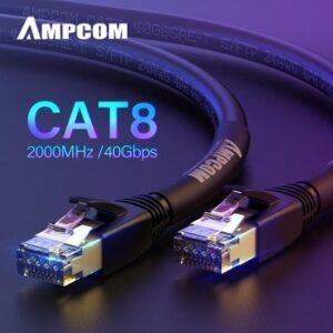 AMPCOM S/FTP CAT8 Ethernet Cable