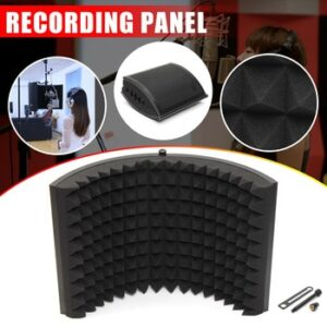 Alloy Foldable Microphone Acoustic Isolator Shield Acoustic Foams Panel Professional Studio Soundproofing Panel