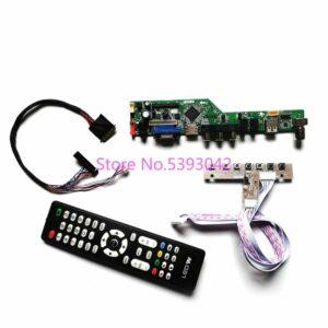 KIT fit LP140WH2 (TL)(E2)/(TL)(E3)/(TL)(EA) Keypad+Remote analog LCD VGA+AV+USB LVDS 40-Pin 1366*768 TV control drive board