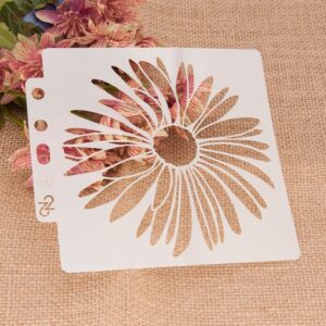 14*13cm Sunflower DIY Layering Stencils Wall Painting Scrapbook Coloring Embossing Album Decorative Card Template