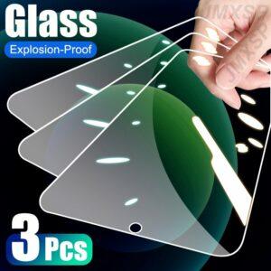 3Pcs Tempered Glass For Xiaomi Mi Max 2 3 Mix 2 2S 3 Protective Glass For Mi A3 A2 Lite A1 Poco X3 NFC M3 F1 F2 Play CC9E Glass