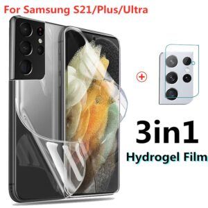 hydrogel film for samsung galaxy s 21 plus ultra screen protector not glass for gelaxi s21 s21ultra s21+ s21plus camera glass