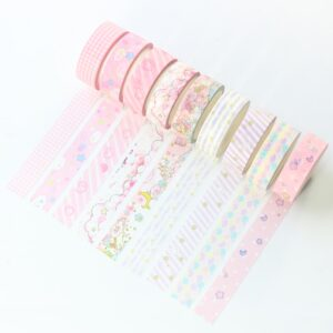 Candy kawaii Japanese cartoon school decorative washi tape for diary planner stationery
