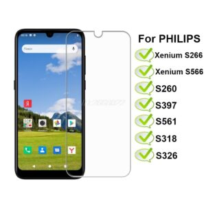 3-1Pcs Tempered Glass For PHILIPS XENIUM S266 S566 Screen Protector Protective Glass For Philips S260 S397 S318 S326 Phone Film