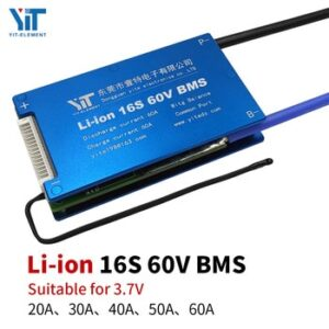 Li-ion 3.6V / 3.7V 16S 60V BMS electric scooter battery accessory protection board with balanced temperature control PCB