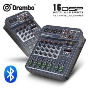 professional X4/6channel Protable digital audio mixer console with DSP effect Sound Card